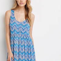 Cross-Back Zigzag Tile Dress