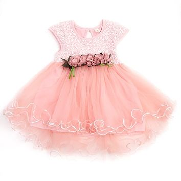 Summer Sleeveless Floral Baby Girls Dresses Toddler Kids Party Princess Wedding Tutu Dress Sweet Baby Girls Clothes 0-3Y