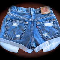High waist jean shorts  size S/M/L/XL/XXL