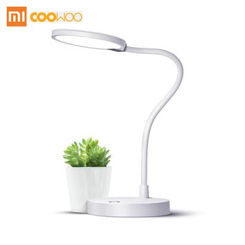Xiaomi COOWOO LED Desk Lamp Smart Table Lamps Desklight 4000mAh battery 8 hours lighting Power Bank 2 USB