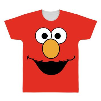 Cookie Monster Elmo All Over Men's T-shirt