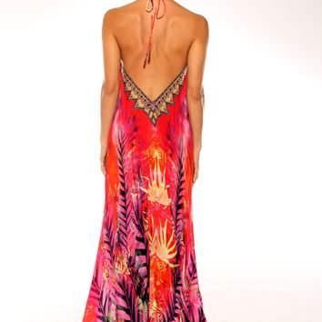 Parides Pomegranate Red Dress | Luxury Resort Wear