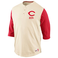 Cincinnati Reds Cooperstown Washed Old School Henley - MLB.com Shop
