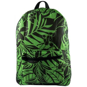 Green Tropical Foldable Backpack