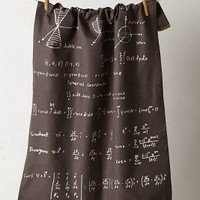 Perfect Equation Dishtowel by Anthropologie Black One Size Kitchen