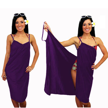 Purple Swimsuit Wrap Cover