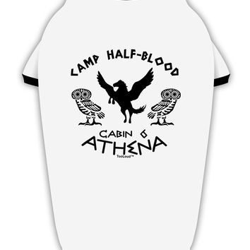 Camp Half Blood Cabin 6 Athena Stylish Cotton Dog Shirt by TooLoud