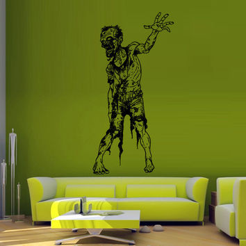 Wall decal decor decals sticker art vnyl design mummy zombie horror fear dead myth character corpse Bedroom (m1240)