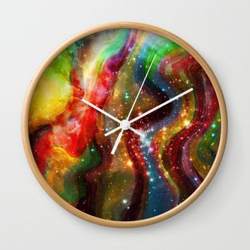 Bright Stones Wall Clock by Jeanette Rietz