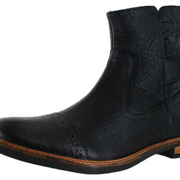 Ben Sherman Elmer Men's Buckle Cap Toe Boots Leather