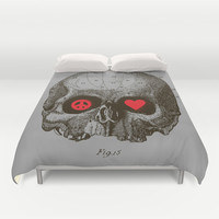 Peace and Love Duvet Cover by Budi Satria Kwan