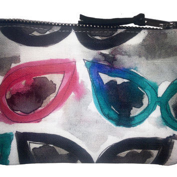 Cateye Sunglasses Lips Coin Purse