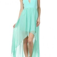 Goddess Enchantment Sweetheart Strapless High Low Dress in Mint   Sincerely Sweet Boutique