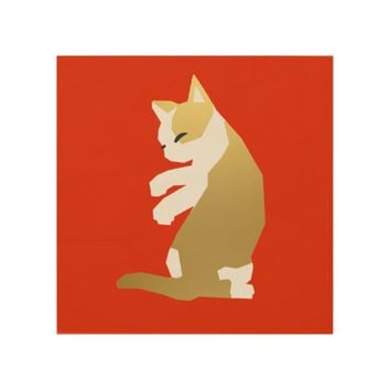 Fortune Cat (Chinese New Year) Wood Wall Art