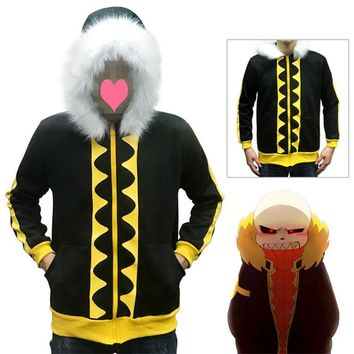 Game Undertale Sans Papyrus Hoodie Coat Cosplay Costume unisex Warm Winter thicken Sweatshirt Halloween  Cosplay CostumeKawaii Pokemon go  AT_89_9