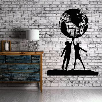 Wall Vinyl Sticker Decal People World Friendship Earth Globe Planet Peace Unique Gift (n022)