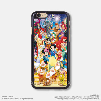 Characters Disney Princess iPhone Case Black Hard case 808