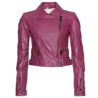 Ashleigh Leather Biker Jacket  | Burberry Brit ◊ mytheresa.com