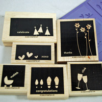 "Stampin Up Rubber Stamp Set ""In Any Event"" RETIRED SET 2006 but Brand New Set, Never Used for Scrapbooking. Cardmaking, Collage, Crafts"