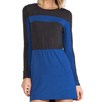 Heather Colorblock Mini Dress in Blue