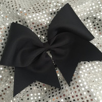 Custom Cheerleader Black Cheer Hair Bow