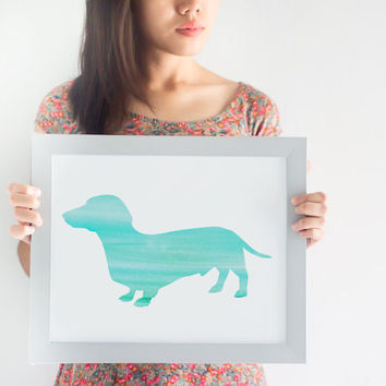 Watercolor Dachshund Printable // Printable Dog Decor // Home Decor // Dog Printable