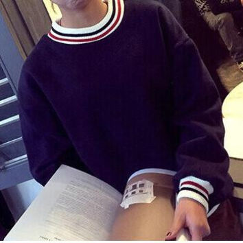 PATCHWORK STRIPED SWEATER