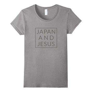 Japan and Jesus- Cool Minimal Christian Home Country TShirt