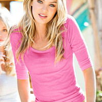 The Essential Three-quarter Sleeve Tee - Victoria's Secret