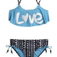 Love Flounce Bikini Swimsuit | Girls {category} {parent_category} | Shop Justice