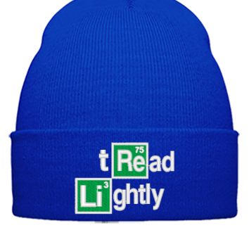 tread lightly embroidery,Hat - Beanie Cuffed Knit Cap