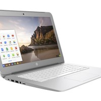 "HP - 14"" Chromebook - Intel Celeron - 2GB Memory - 16GB eMMC Flash Memory - Turbo Silver/Snow White"