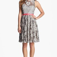 Eliza J Textured Lace Fit & Flare Dress | Nordstrom