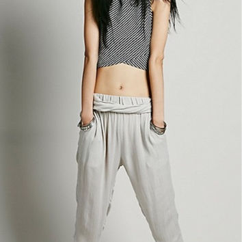 Free People 'Twisted Harem' Pant In Light Grey, Size Xs, New (Originally $68)
