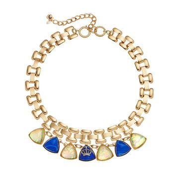 Juicy Couture Bib Necklace (Yellow)