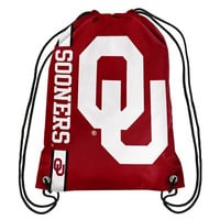 Oklahoma Sooners Official NCAA Team Logo Drawstring Backpack