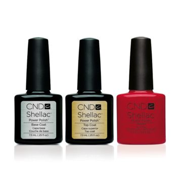 CND - Shellac Combo - Base, Top & Wildfire