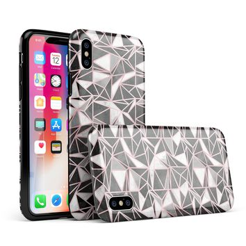 Karamfila Marble & Rose Gold v1 - iPhone X Swappable Hybrid Case