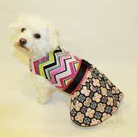 Dog Dress Chevron Moroccan Print Dog Dress pet clothing dog clothes pet clothes dog apparel
