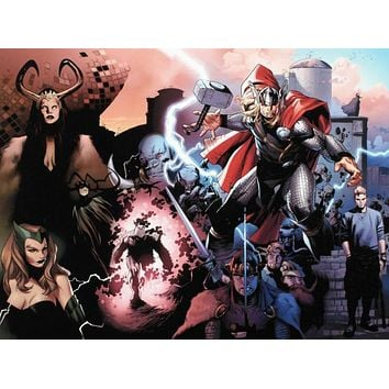 Thor #600 - Limited Edition Giclee on Stretched Canvas by Olivier Coipel and Marvel Comics