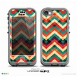The Abstract Colorful Chevron Skin for the iPhone 5c nüüd LifeProof Case