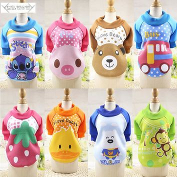 Winter Warm Cartoon Dog Coat
