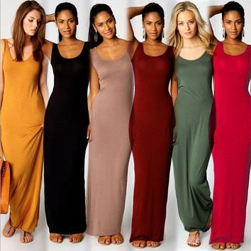 Maxi Tank Dress Plus Size XS-3XL