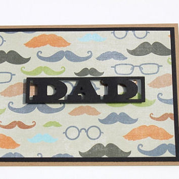 Mustache Fathers Day Card