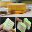 5 Layers Kitchen DIY Cake Bread Cutter Leveler Slicer Cutting Fixator Tools 2pcs/set (without Knife)