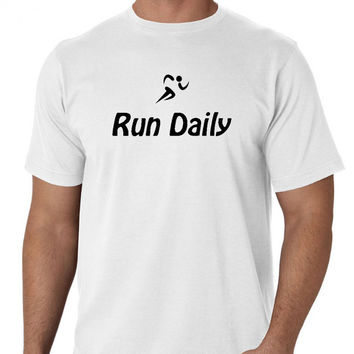 Running Tshirt Run Daily Running Logo Shirt