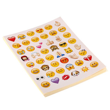 20 Sheets 960 Die Cut Emoji Smile Sticker Kids Sticker Toy Emoji Sticker Pack Die Cut Stickers For Phone Notebook Message