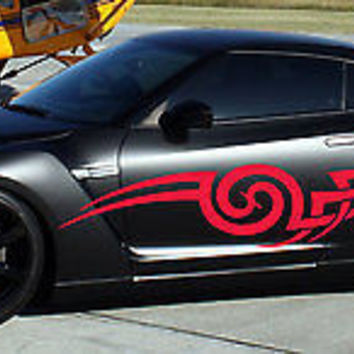 Tribal Tattoo Street Racing Design Drift Tuned Car vinyl graphics SUV tr042