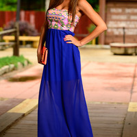Tribal Rave Maxi, Royal Blue