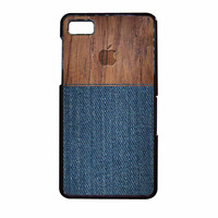 Wood Faux Denim Case BlackBerry Z10 Case